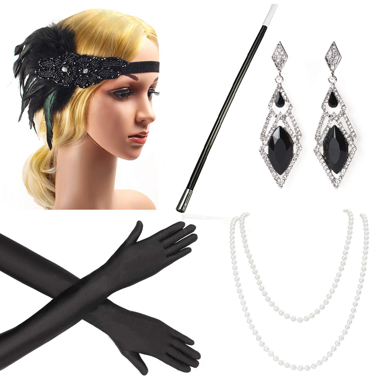Beelittle Zubehör, Haarband, Ohrringe, Halskette, Handschuhe, Zigarettenhalter