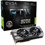EVGA GeForce GTX 1070 FTW GAMING ACX 3.0, 8GB GDDR5, RGB LED, 10CM FAN, 10 Power Phases, Double BIOS, DX12 OSD Support (PXOC) Carte Graphique 08G-P4-6276-KR
