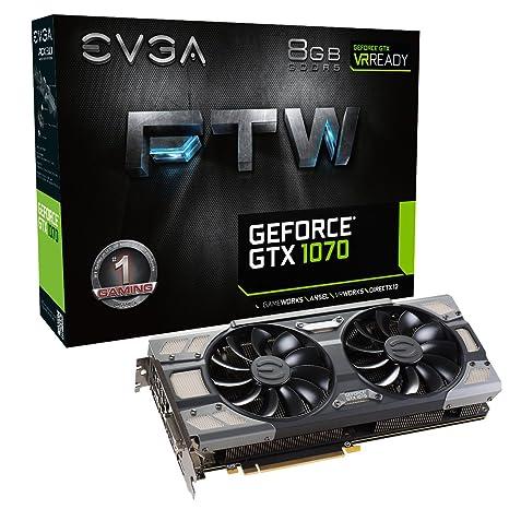 EVGA GeForce GTX 1070 FTW GAMING ACX 3.0 Tarjeta gráfica (8 GB ...