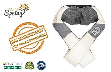 Nackenmassagegerät Optimus New Generation Munich Spring Shiatsu Wärmefunktion Beauty & Gesundheit