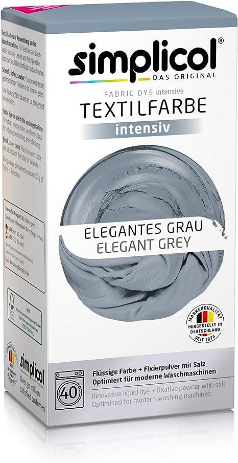 Simplicol Kit de Tinte Textile Dye Intensive Gris: Colorante ...
