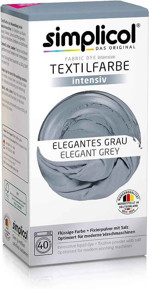 Simplicol Kit de Tinte Textile Dye Intensive Gris: Colorante para ...