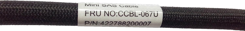 Cable 2.0 Feet // 0.6 Meter SFF-8087, 36 Pin SFF-8087, 36 Pin Internal Mini-SAS Male to Mini-SAS
