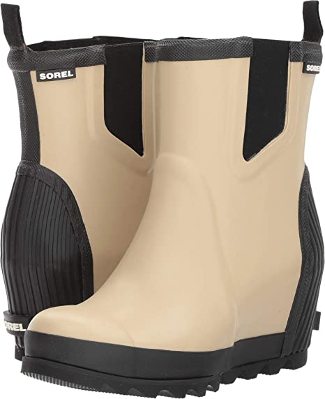 a6087659cc8 Sorel - Women s Joan Rain Wedge Chelsea Rain Boot  Amazon.ca  Shoes ...