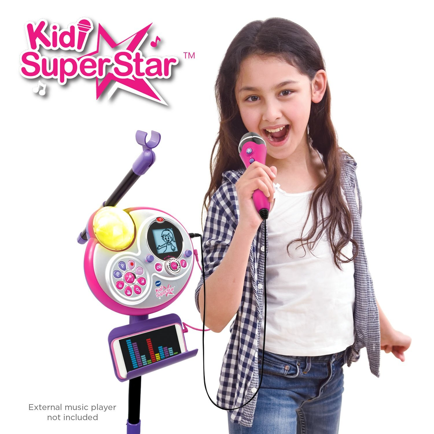 VTech Kidi Super Star Karaoke System with Mic Stand Amazon Exclusive by VTech (Image #4)