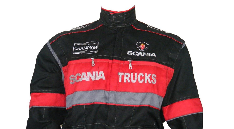 hommes Ensemble de combinaison et veste avec logo brod/é /à lavant et larri/ère V/êtements de travail pour conducteurs de camion m/écaniciens
