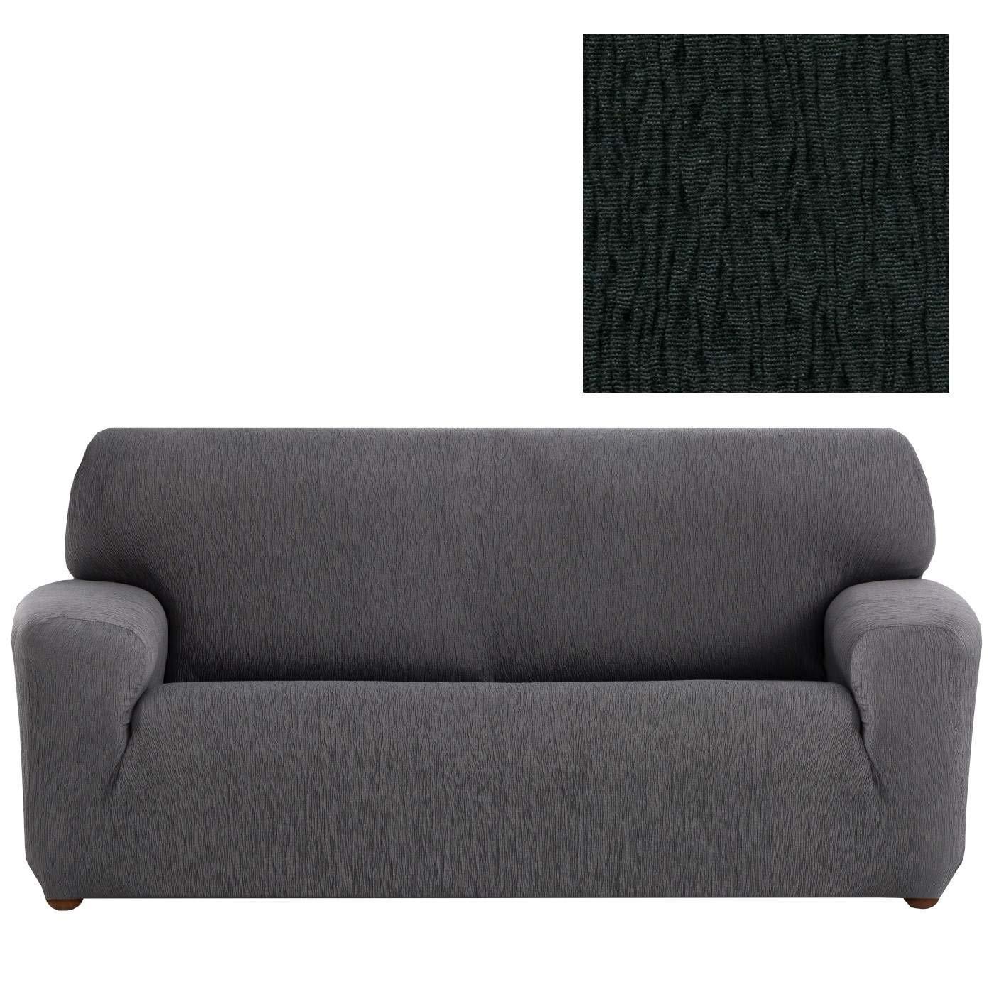 Jarrous Funda de Sofá Elástica Modelo Arucas, Color Negro-11, Medida 3 Plazas – 180-240cm