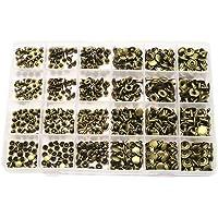 Censhaorme 360pcs único límite Remaches Dobles del Arte de DIY Ropa Calzado Bolsos Cinturones de reparación y decoración de Metal de los Pernos prisioneros de los Remaches