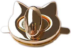 Bobeey 2sets Cat Shape Purses Locks Clutches Closures with Cat Shape,Purse Twist Lock BBL10 Light Gold