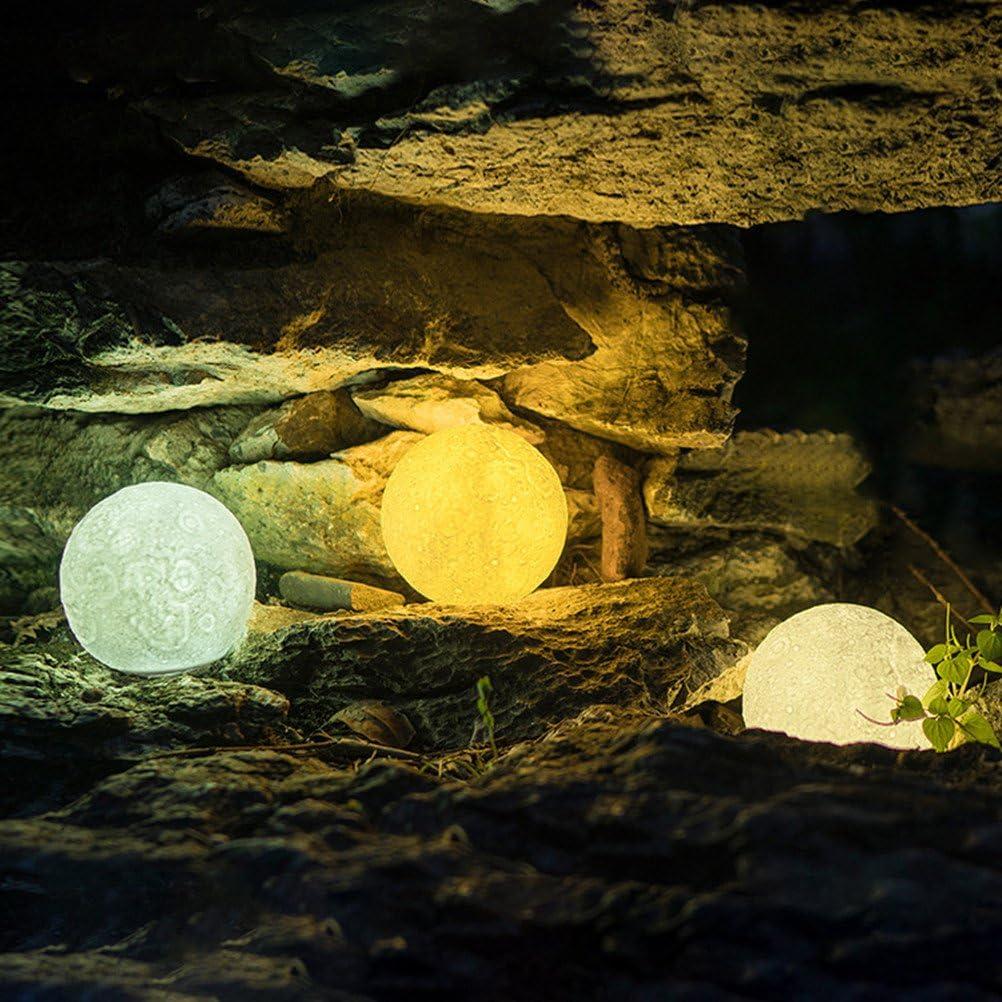 WYCY Lampada della Luna Stellata 15CM 3 Colori Luce Stellata della Luna 3D Tocca Controllo e Pat Control con Lampada di Ricarica USB Galaxy Lampada Stellata Luna 3 Colori, 15CM
