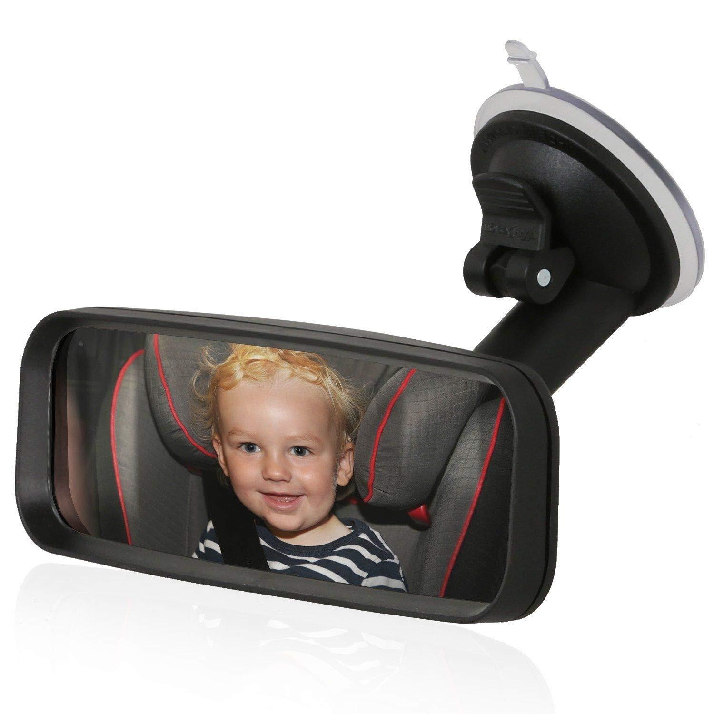 schwarz Wicked Chili Zusatz Beifahrer R/ückspiegel zur Befestigung an der Windschutzscheibe mit Schwanenhals vibrationsfrei, Spiegelfl/äche: 153 x 45 mm