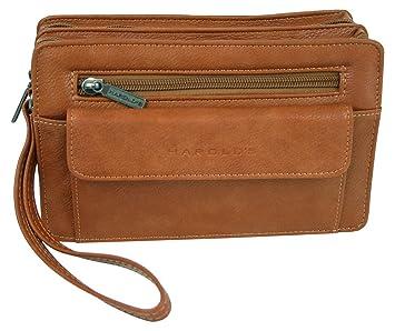 cc3b1a24ee231 Praktische geräumige Herren Handtasche Handgelenk-Tasche für Männer  HAROLD S Herrentasche mit Trageschlaufe Gelenkschlaufe
