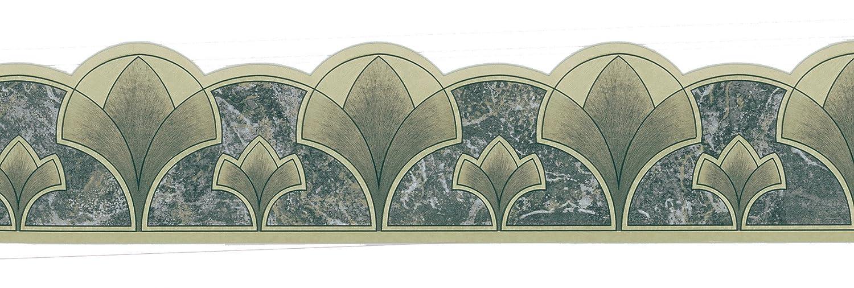 Brewster 499 06769 Dark Green Art Nouveau Border Wallpaper Breen Amazoncouk DIY Tools