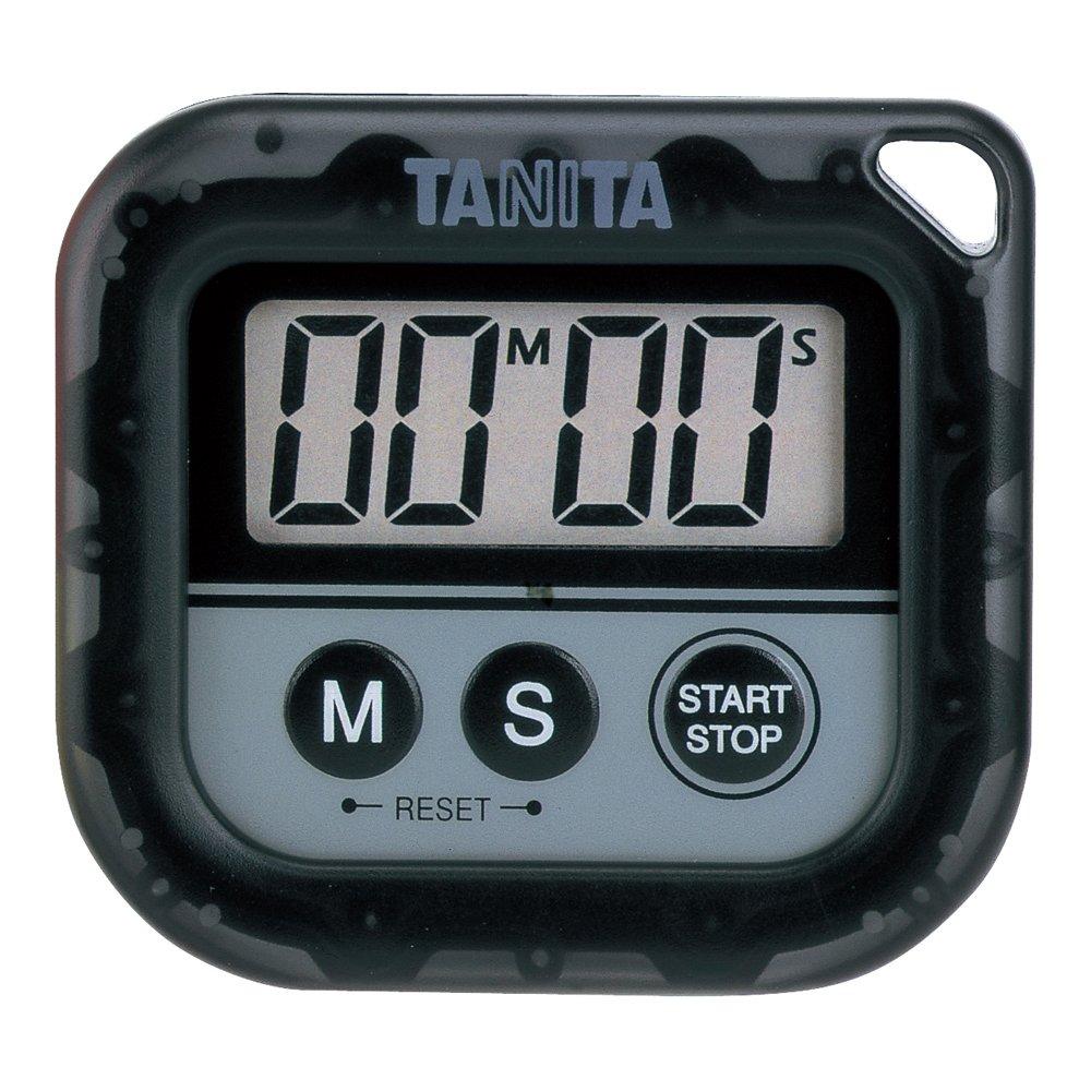 タニタ 丸洗いタイマー100分計 TD-376-BK