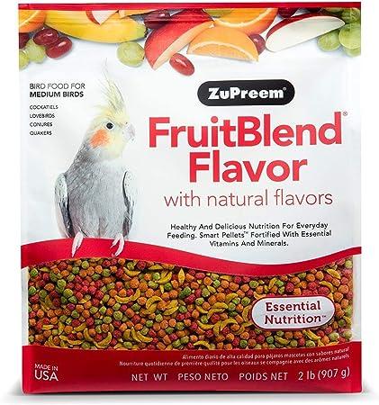 Zupreem Fruit Blend Diet For Medium Birds 2 Pound Amazon Co Uk Pet Supplies