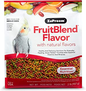 product image for ZuPreem FruitBlend Flavor Pellets Bird Food for Medium Birds | Powerful Pellets Made in USA, Naturally Flavored for Cockatiels, Quakers, Lovebirds, Small Conures
