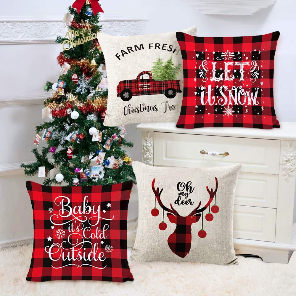 Schöne Kissenbezüge - als Weihnachtsdeko