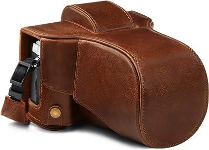Megagear Ever Ready Mg1863 Kameratasche Aus Echtem Leder Kompatibel Mit Olympus Om D E M5 Mark Iii 14 150 Mm Braun Elektronik