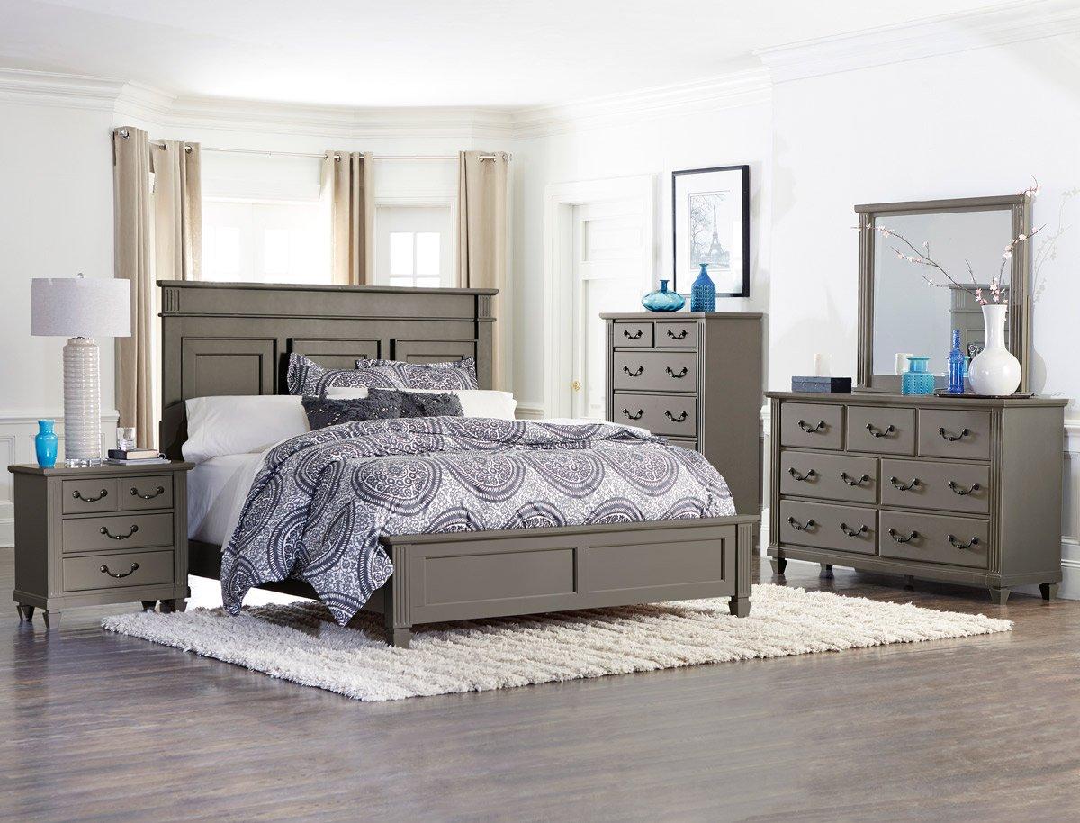 Amazon Com Gervais 5 Piece California King Bedroom Set In Grey Rub