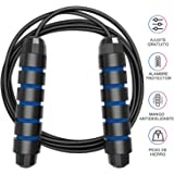 "Tobeape Skipping Rope Tangle-Free with Ball Bearings Rapid Speed Jump Rope Cable and 6"" Memory Foam Handles Ideal for Aerobic Exercise Like Speed Training, Endurance Training and Fitness Gym"