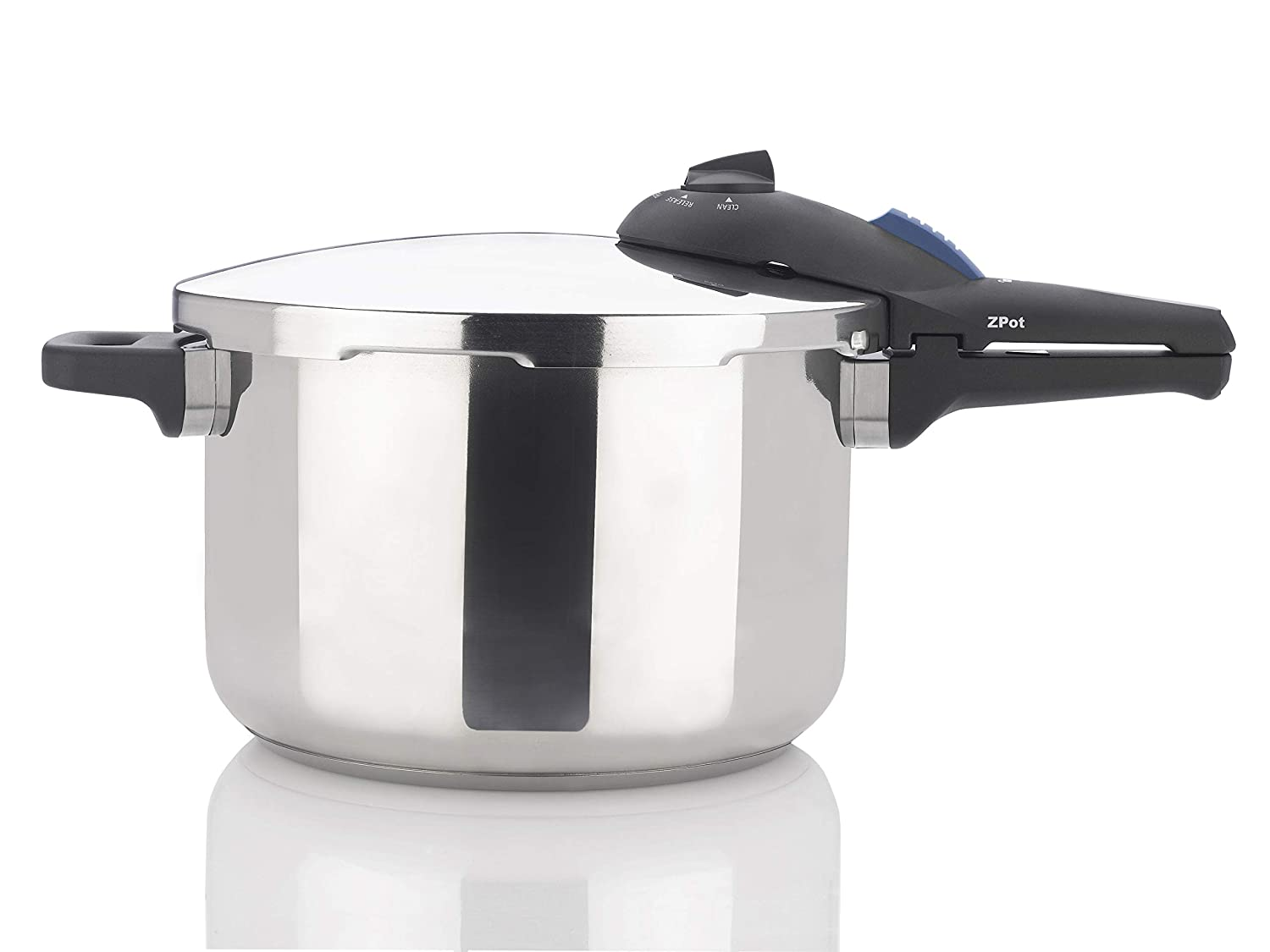 Zavor ZPot 6.3 Quart 15-PSI Pressure Cooker and Canner - Polished Stainless Steel (ZCWSP02)