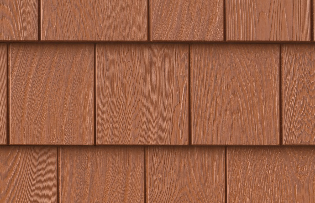 Grayne 7.5'' Red Cedar Shingle 453 Treaded Cedar Rigid PVC Shingle Panel