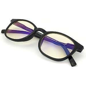 0e475056f0c J+S Vision Blue Light Shield Computer Reading Gaming Glasses - 0.0  Magnification -