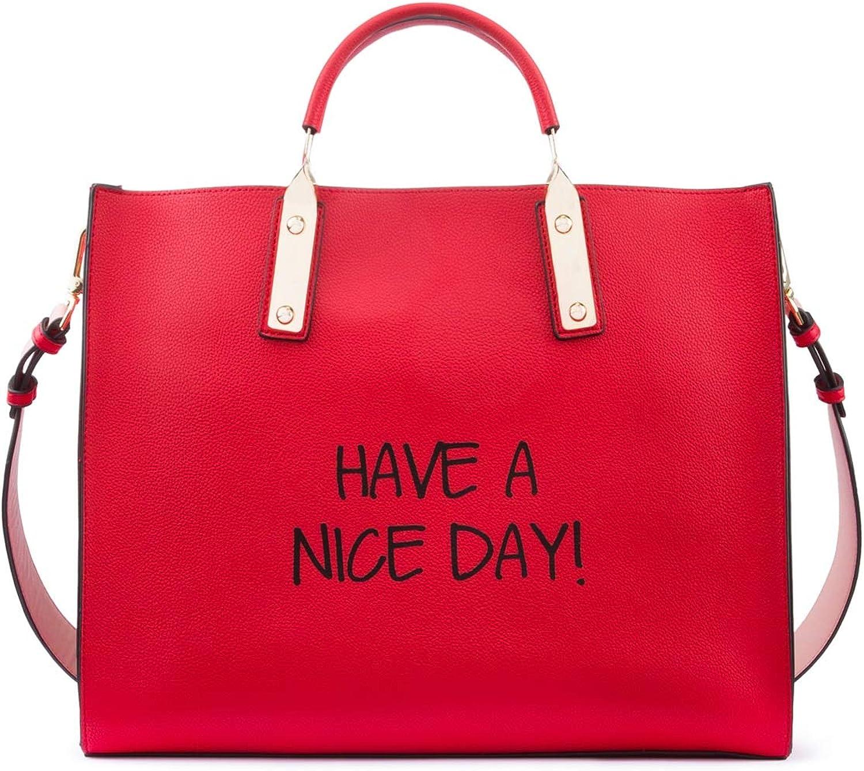 Tosca Blu Borsa A Mano Grande Have A Nice Day Rosso
