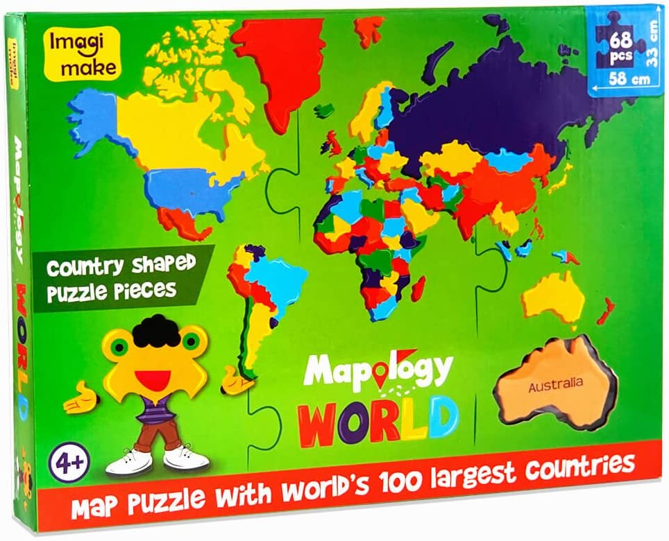 Map Of The World By Country.Amazon Com Imagimake Mapology World World Map And Its Countries