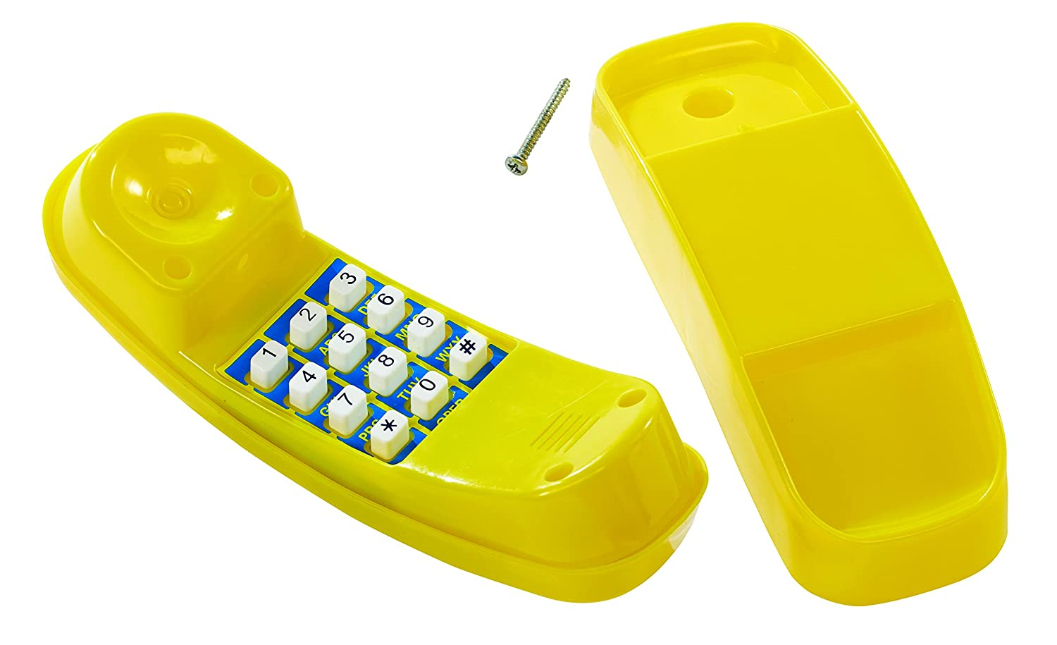 Telephone With Sounds For Kids Climbing Frames or Tree Houses - Yellow. Little Duck Bear Ltd