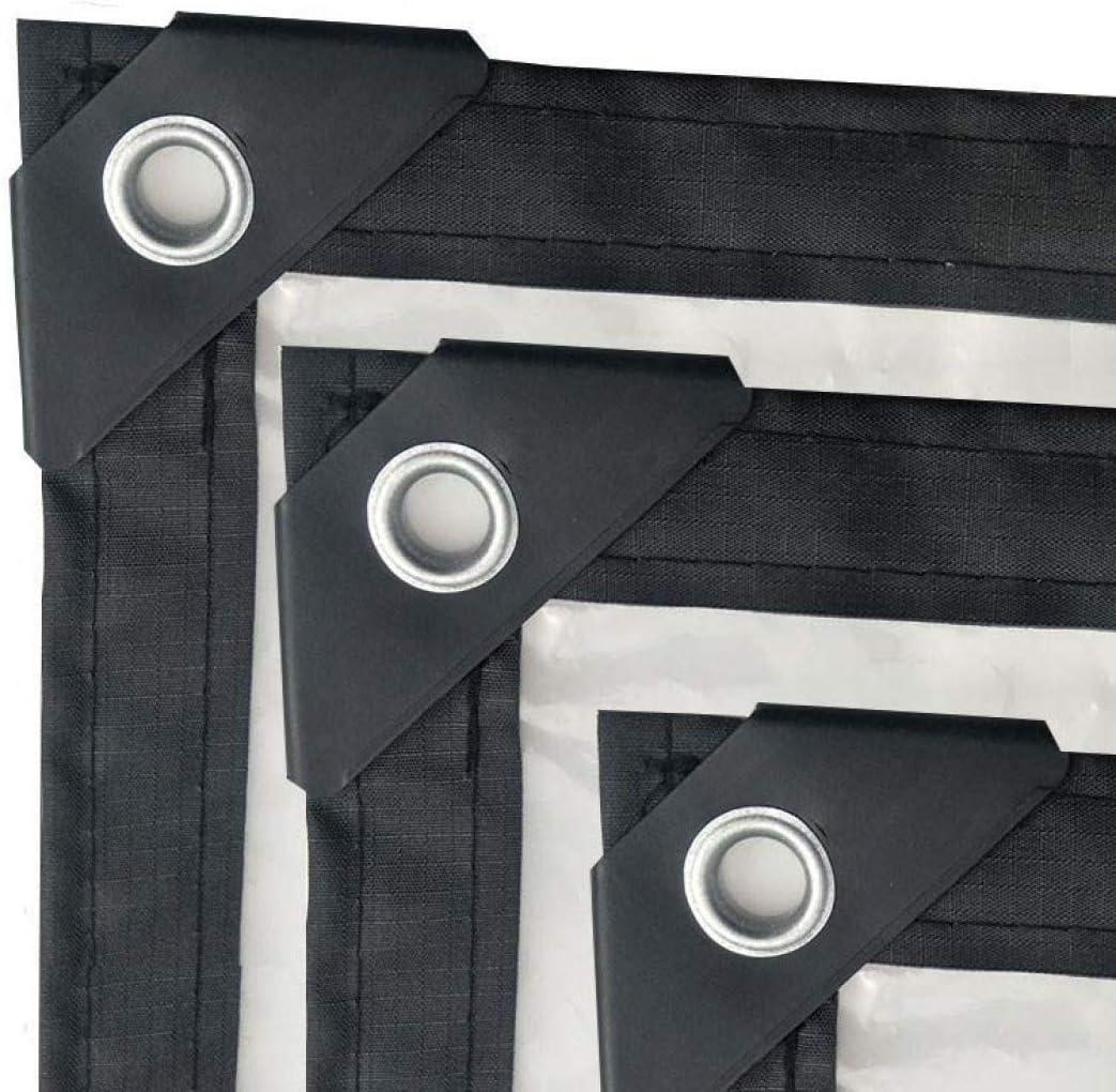 MFASD Lona Transparente con Ojales Bordes Reforzados, Lona de plástico Impermeable Rip-Stop, Lona para automóviles/Camping/embarcación,16x5m/48x15ft