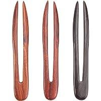 FRCOLOR 3 Stks U-Vormige Haarspeld Vintage Houten Haarvork U-Vormige Haar Clips Chignon Pin Voor Vrouwen Meisjes Kapsels…