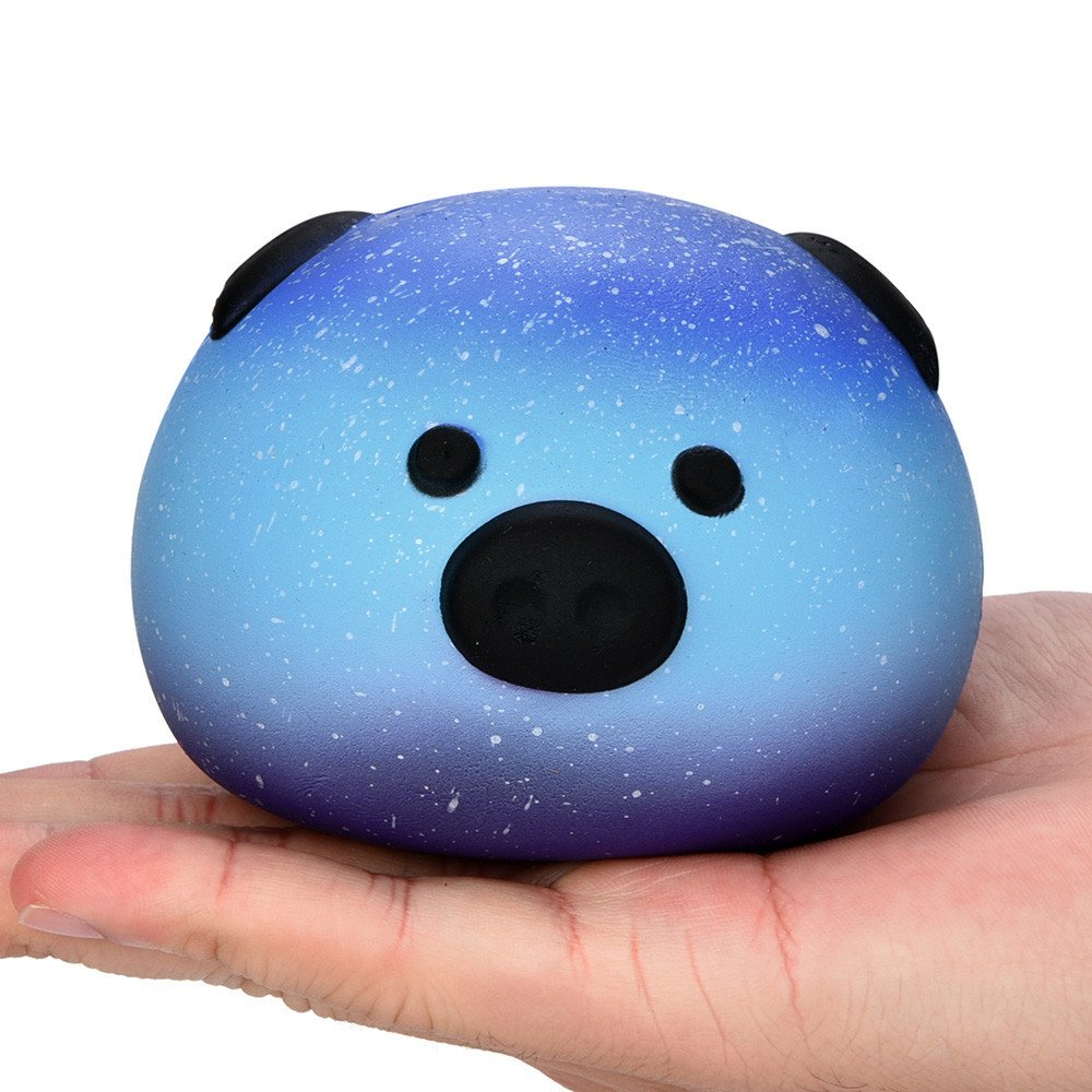 F_topbu Squishy Toy Jumbo Squeeze Toys Kawaii Cartoon Galaxy Pig Cream Scented Slow Rising Squishies Charms for Kid and Adults, Funny Lovely Toy Stress Relief Toy Cell Phone Straps Key Chains Toy