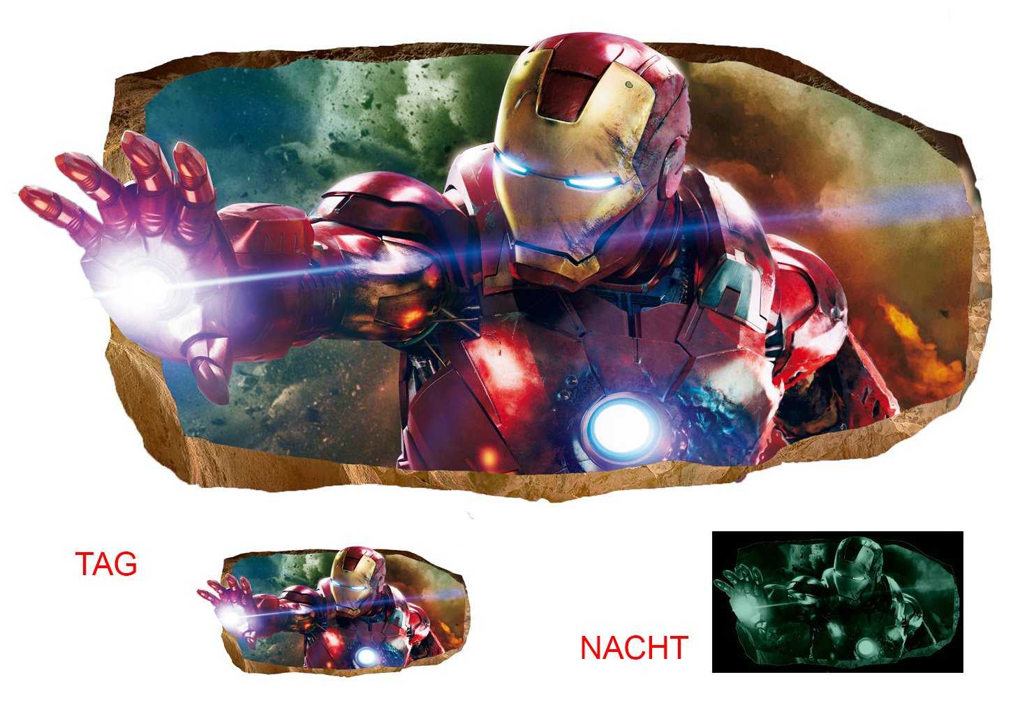 Startonight 3D Mural Wall Art Photo Decor the Power of Light Amazing Dual View Surprise Large Wall Mural Wallpaper for Living or Bedroom Movie Collection Wall Art 120 x 220 cm by Mural Wall Art