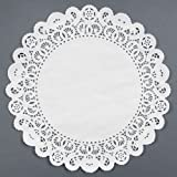Black Cat Avenue White Paper Lace Doilies, 14 Inches, 50-Pack
