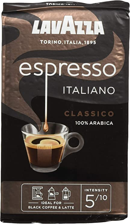 Lavazza Caffe Espresso Ground Coffee 250 g (Pack of 6): Amazon.co.uk: Grocery