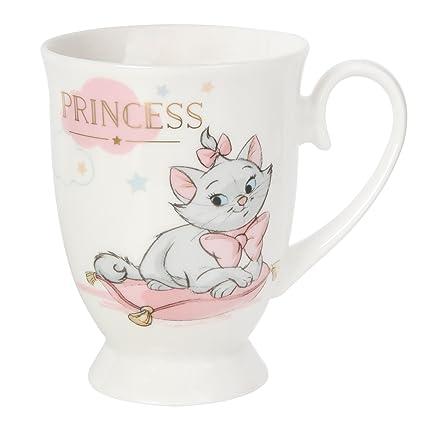 Taza de Disney con diseño de Princesa Marie, en caja de regalo.