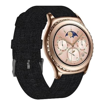 FUNKID Compatible para Smartwatch Pulseras Lona Tela Band 20mm ...