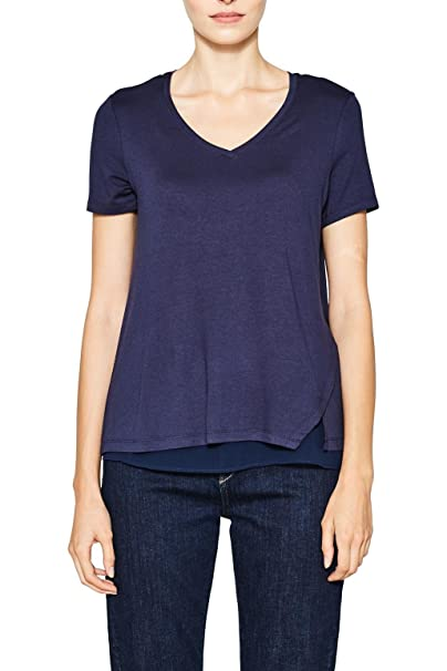 Esprit 087eo1k003, Camiseta para Mujer, Rosa (Blush 665), Medium