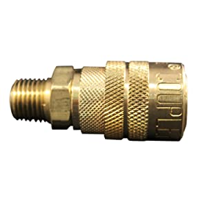 """Milton (716) 1/4"""" Male NPT M Style (Industrial) Air fitting Quick Connect Coupler - Box of 10"""