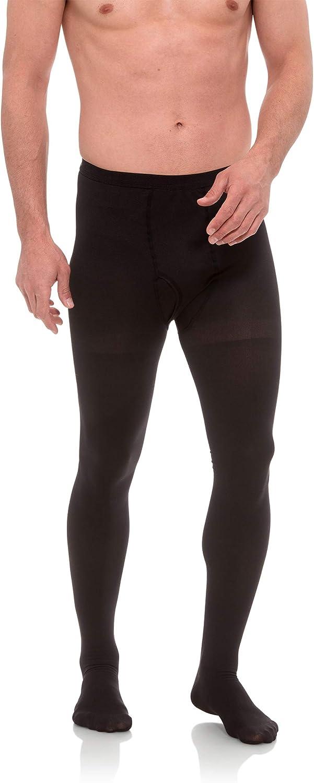 Jomi Compression Men Collection, Compression Leotard Men's Pantyhose, 20-30mmHg 260 (Medium, Black)