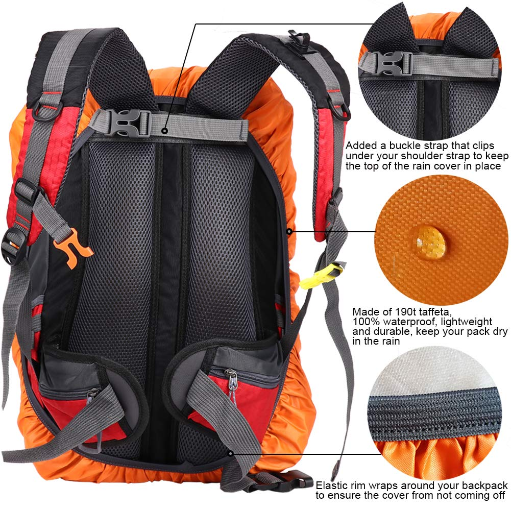 Hiking 15-80L Traveling Biking and More Gryps Waterproof Backpack Rain Cover with Adjustable Anti Slip Buckle Strap /& Sliver Coating Reinforced Inner Layer for Camping Hunting