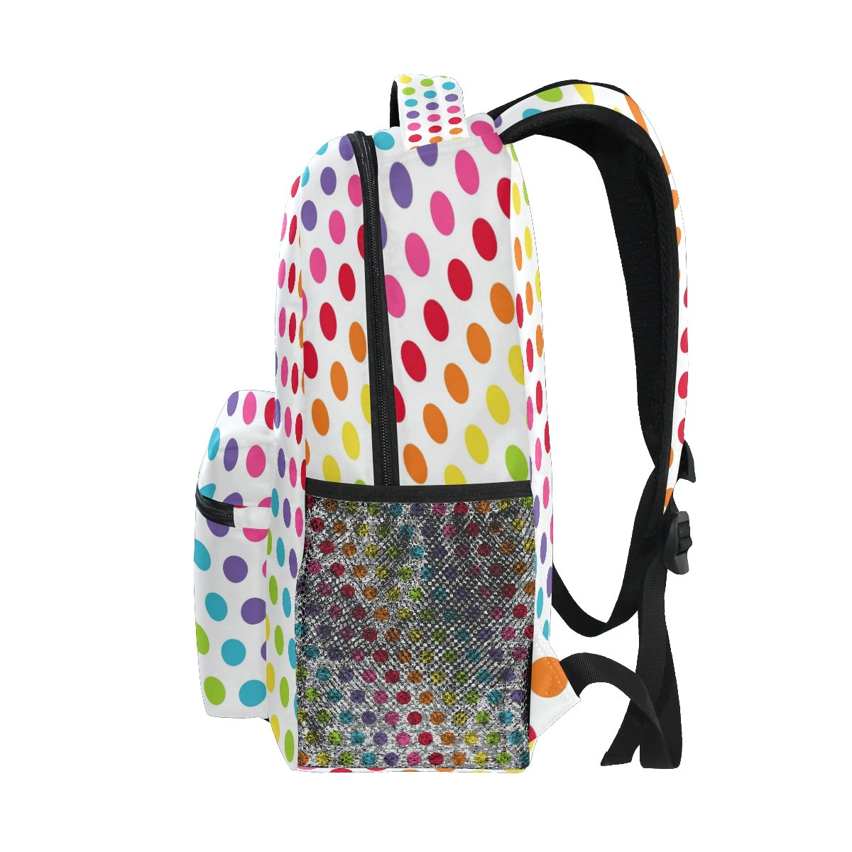 dfe93e2b2d6b Amazon.com  ZZKKO Colorful Rainbow Polka Dots Backpacks College School Book  Bag Travel Hiking Camping Daypack  Computers   Accessories