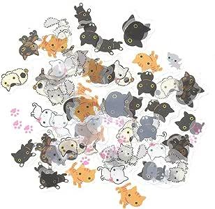 Cat stickers planner stickers cute sticker set kitty stickers, kawaii cats