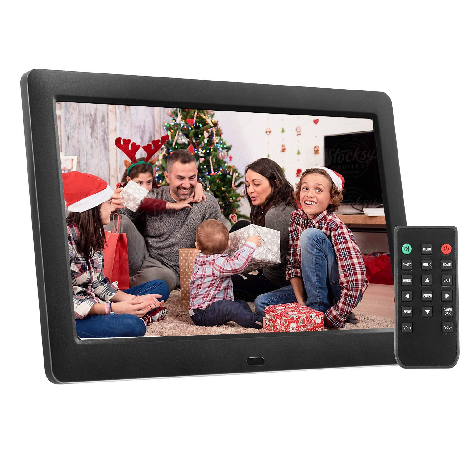 8 Inch Digital Picture Frame, AiJoy Electronic Photo Frame & 1280 x 720 High Resolution IPS Widescreen Display - Multifunction Auto-Rotate/Calendar/Clock, Music/Photo/Video Player with Remote Control
