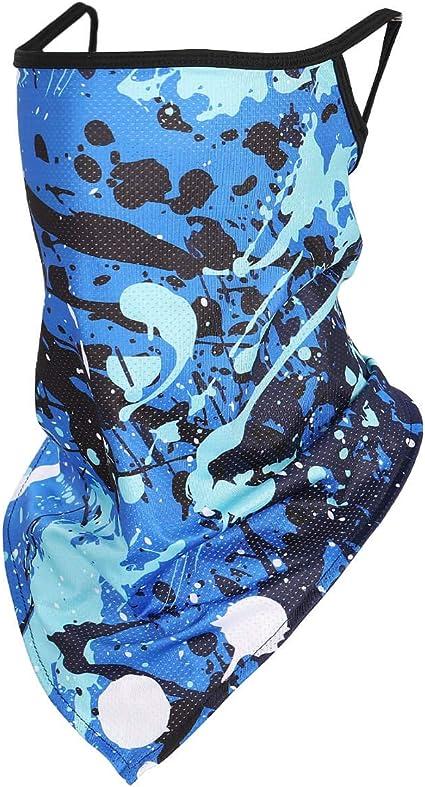 DRESHOW Bandana Viso Triangolo Elastico Fazzoletto da Collo Panno Foulard di Protezione Solare Maschera di Protezione UV Sciarpa di Testa Magica Copricapo per Uomo Donna