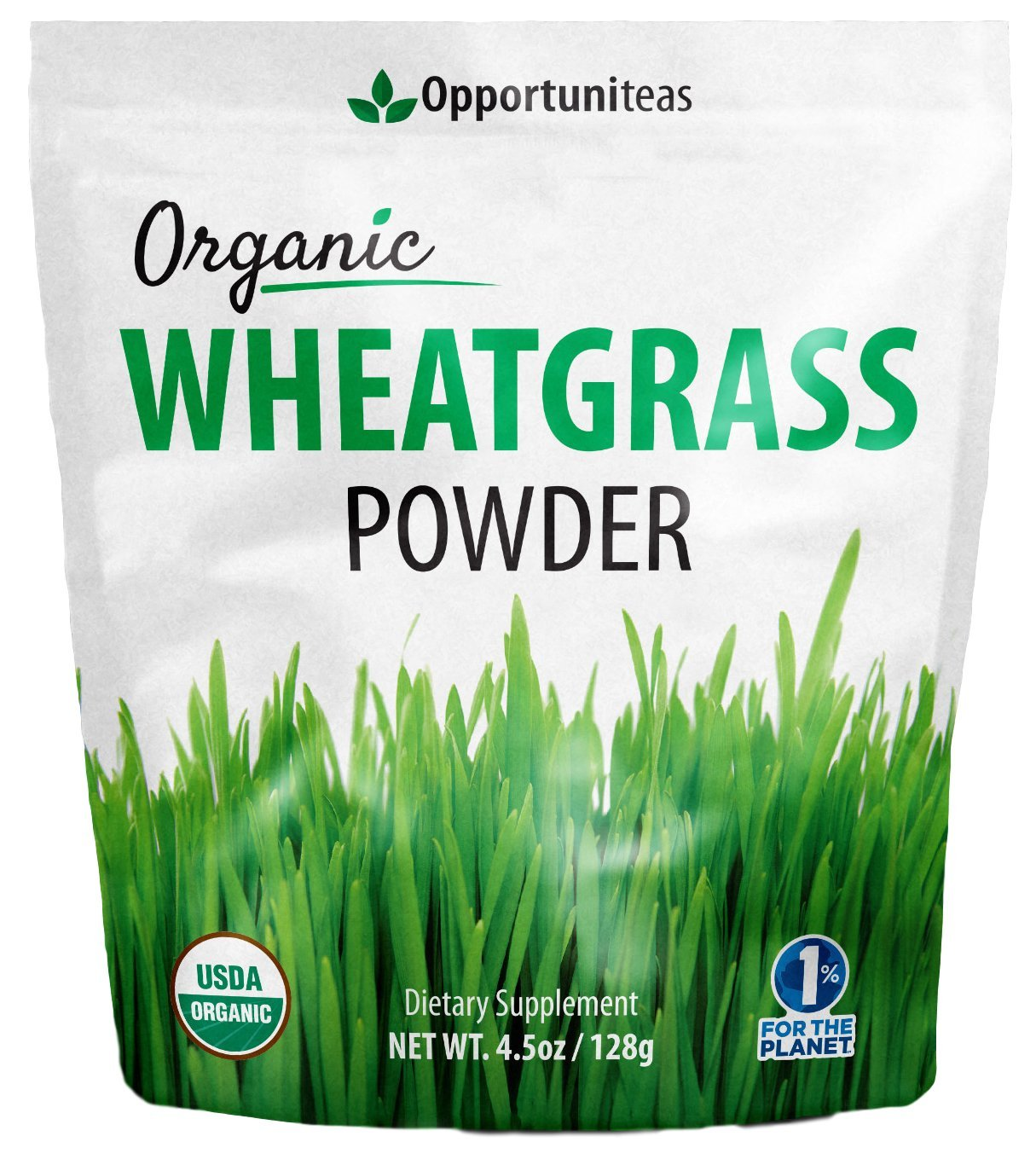 Organic Wheatgrass Powder - USA Grown, Raw, Vegan, Non-GMO - 100% Pure Green Grass Superfood Supplement - Amazing Healthy Boost for Juice, Recipe, or Smoothie - 4.5 oz
