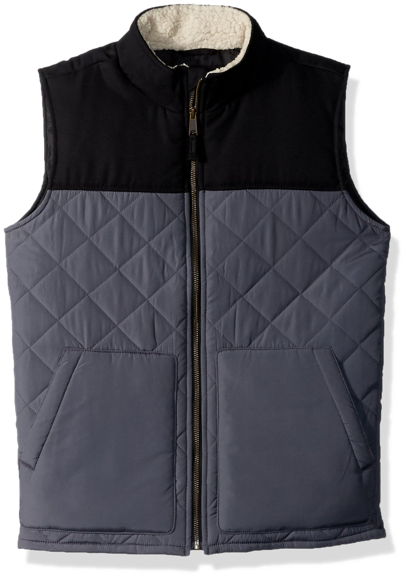 The Children's Place Boys Quilted Vest, Black, S (5/6)