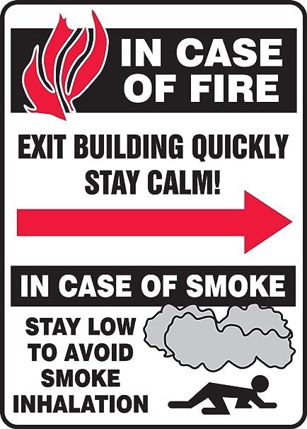 Amazon.com: En caso de Fire Exit edificio rápidamente Stay ...