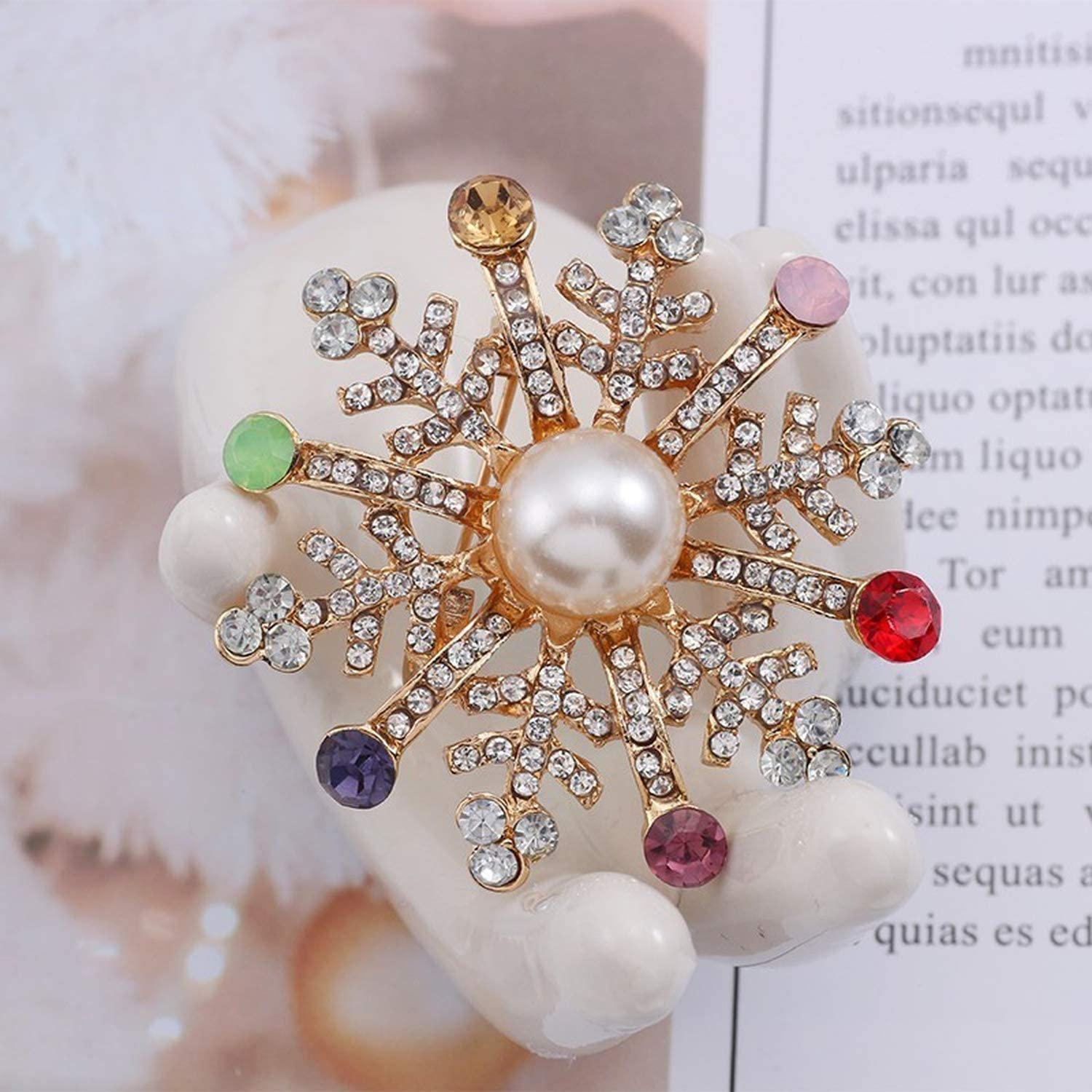 Encounter/_meet pins Christmas Brooch Pins Bell Snowflake Brooches for Women Pins and Brooches Jewelry Xmas Gift,055-Silver